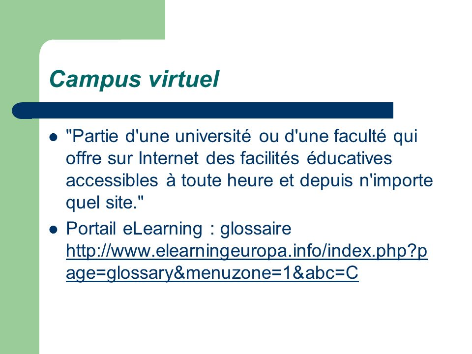 Campus virtuel