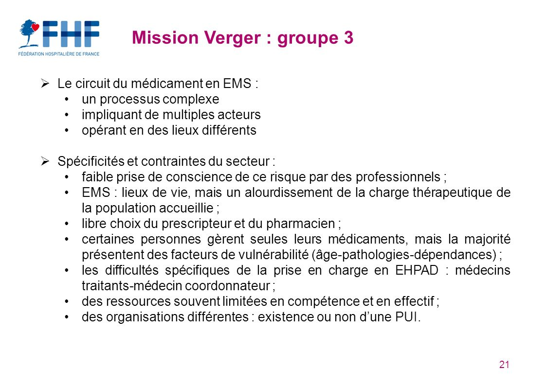 Mission Verger : groupe 3
