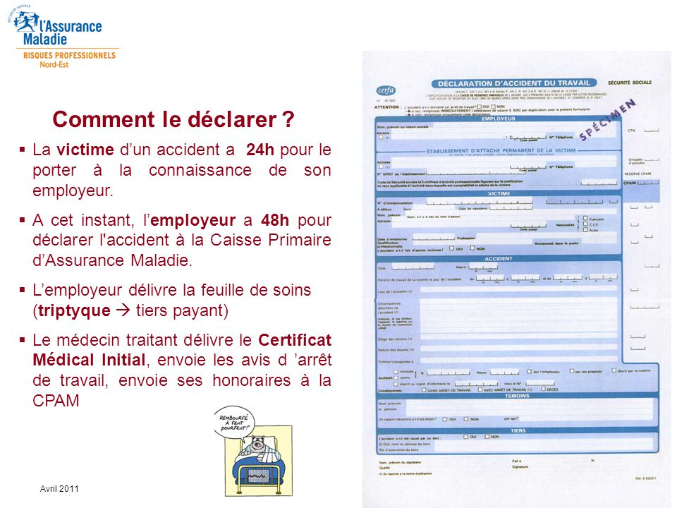 documents accident de travail