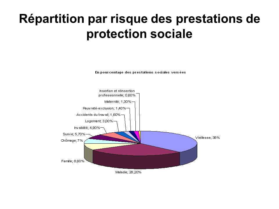 Répartition par risque des prestations de protection sociale