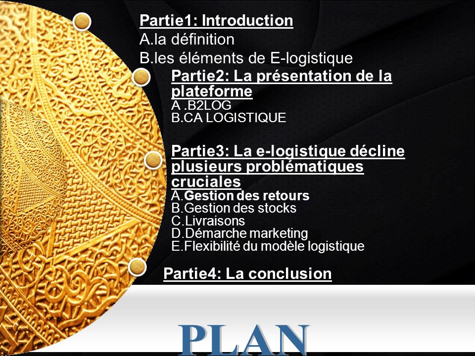 PLAN Partie1: Introduction A.la définition