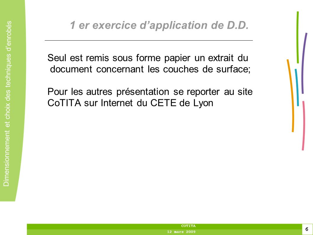 1 er exercice d'application de D.D.