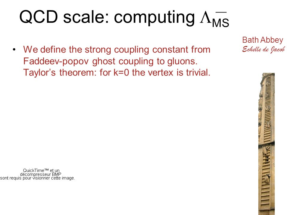 QCD scale: computing MS