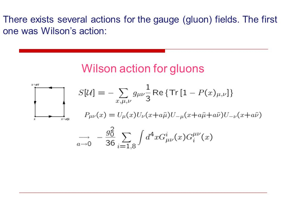 Wilson action for gluons