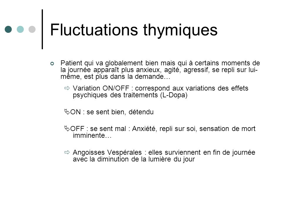 Fluctuations thymiques