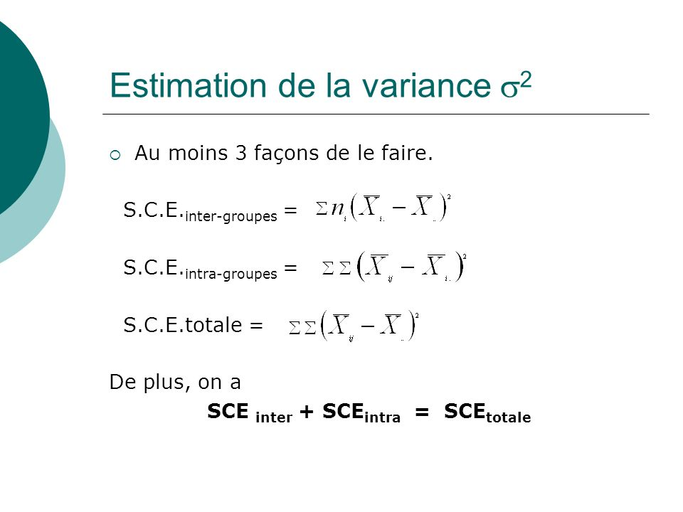 Estimation de la variance 2