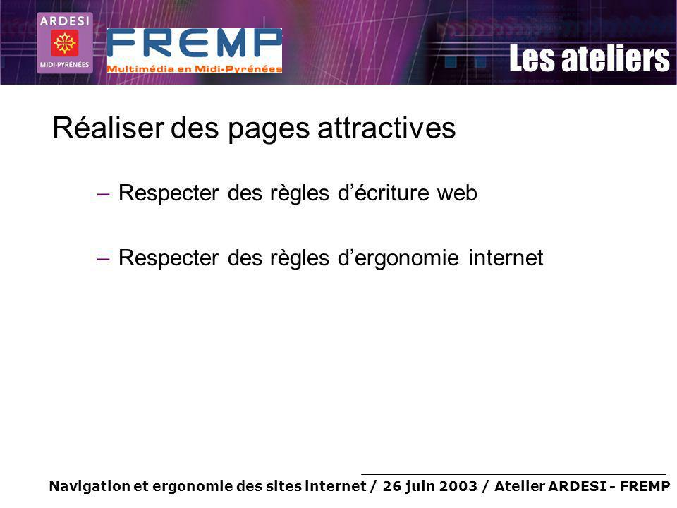 Réaliser des pages attractives
