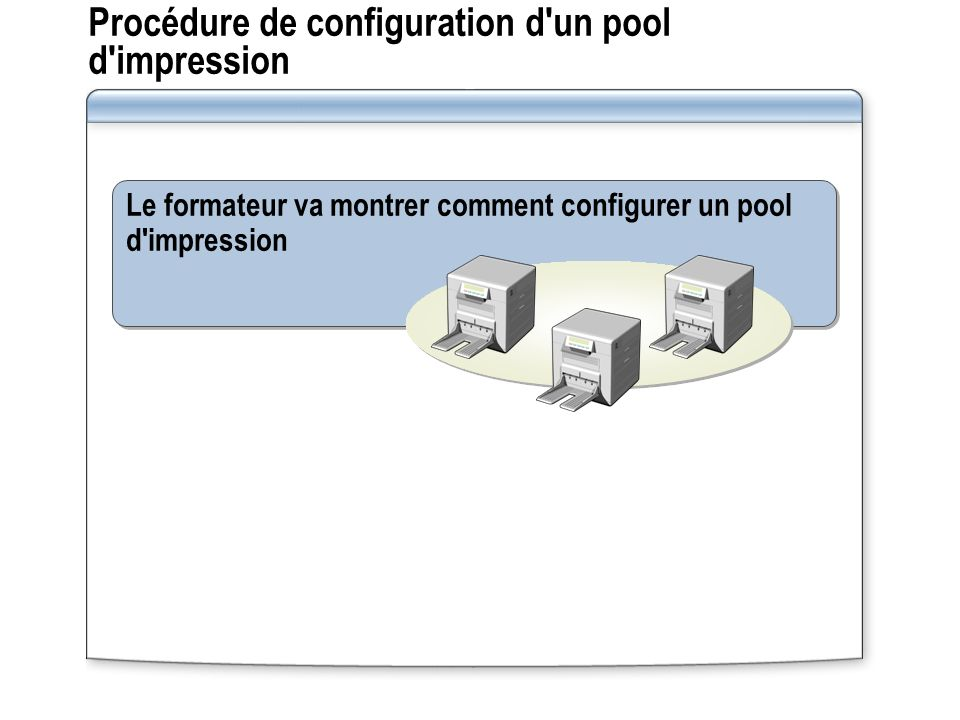 Procédure de configuration d un pool d impression