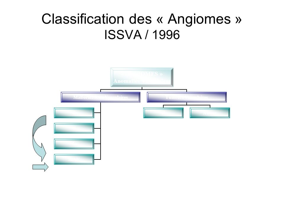 Classification des « Angiomes » ISSVA / 1996