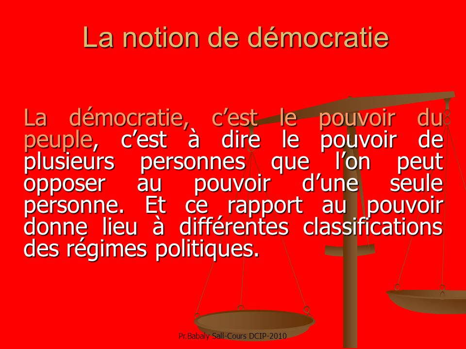 La notion de démocratie