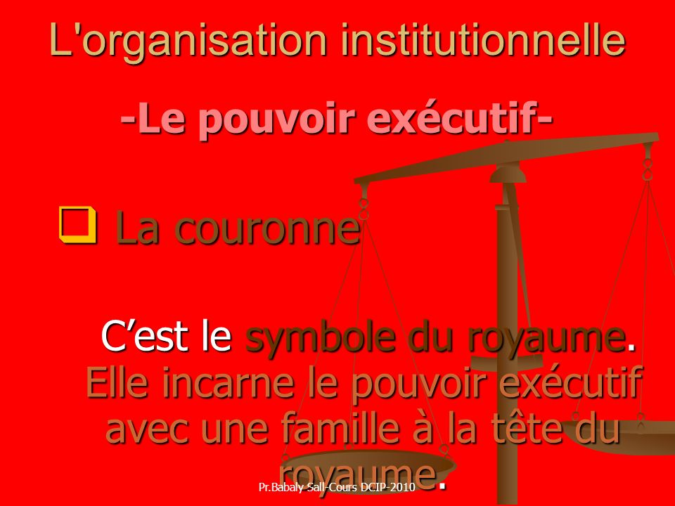 L organisation institutionnelle