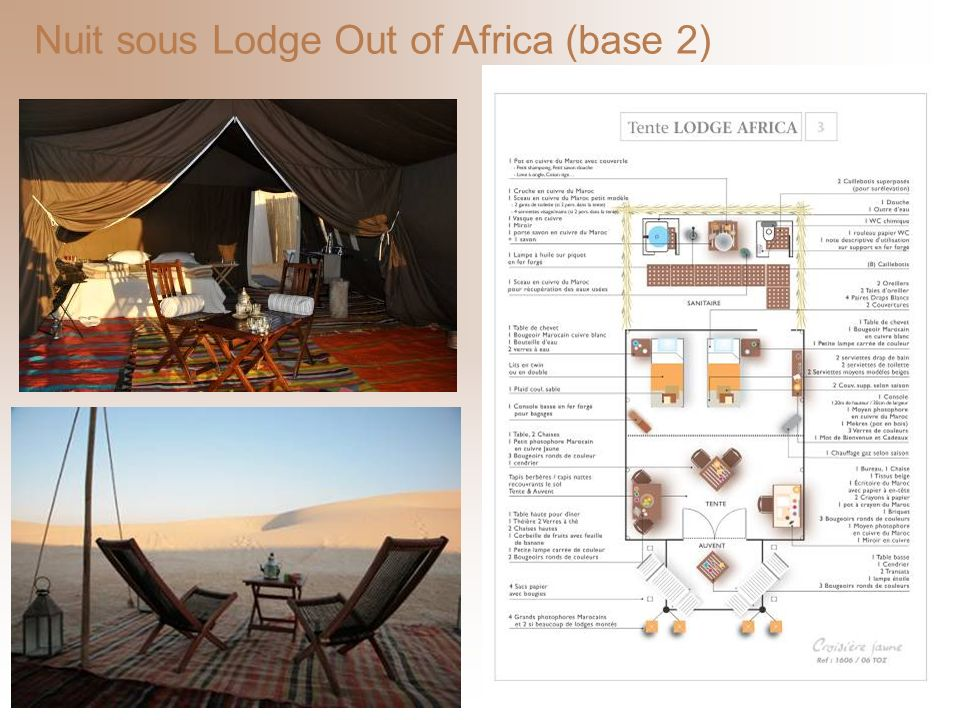 Nuit sous Lodge Out of Africa (base 2)