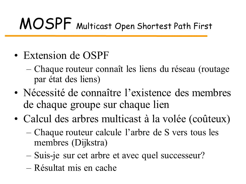 MOSPF Multicast Open Shortest Path First
