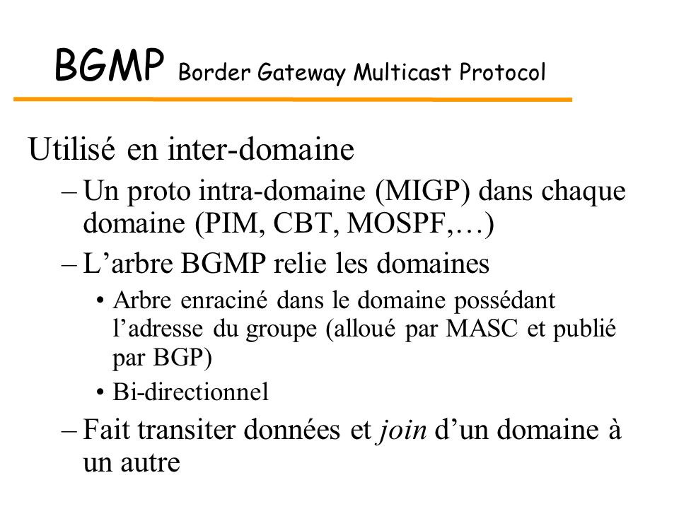 BGMP Border Gateway Multicast Protocol