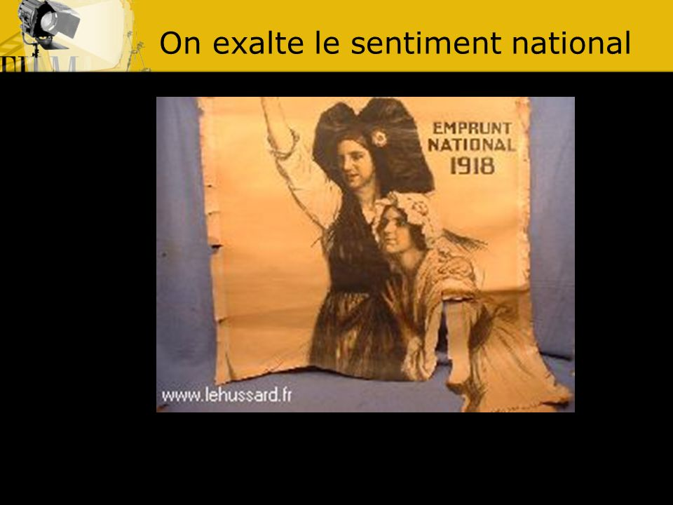 On exalte le sentiment national