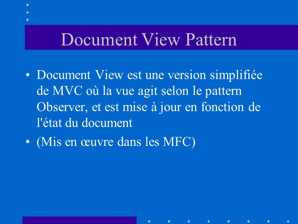 Document View Pattern