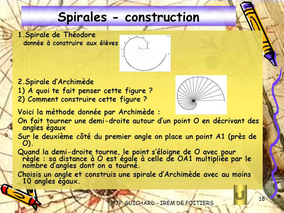 Spirales - construction