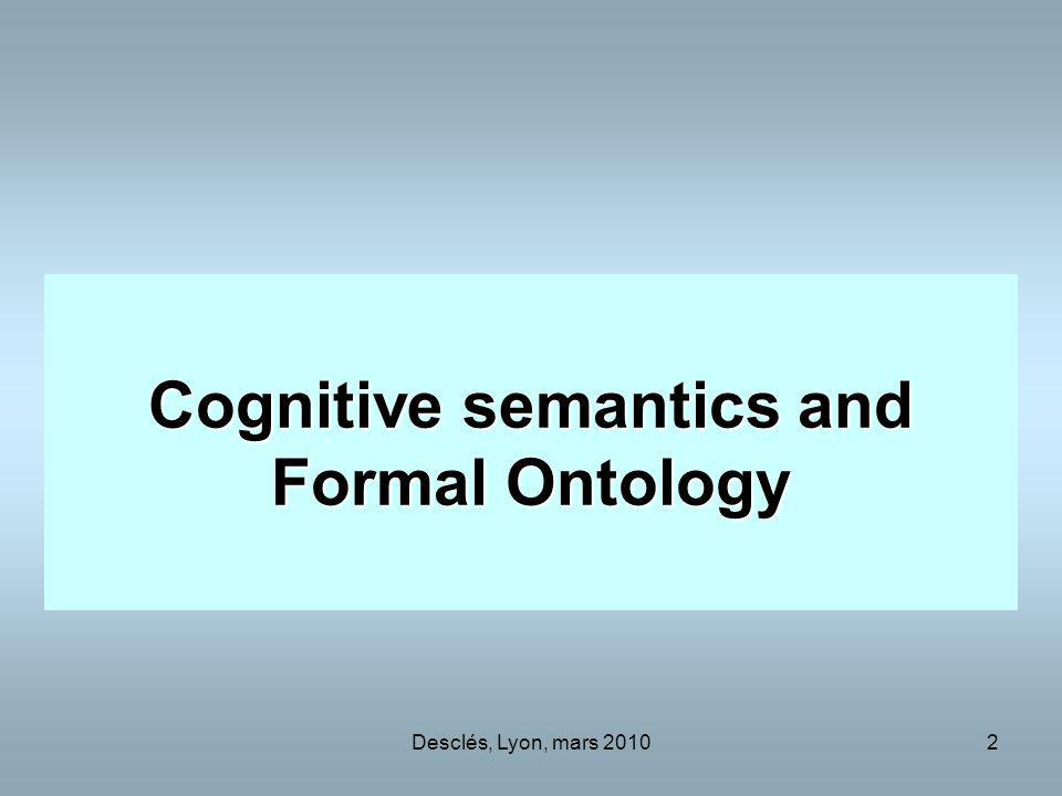 Cognitive semantics and Formal Ontology