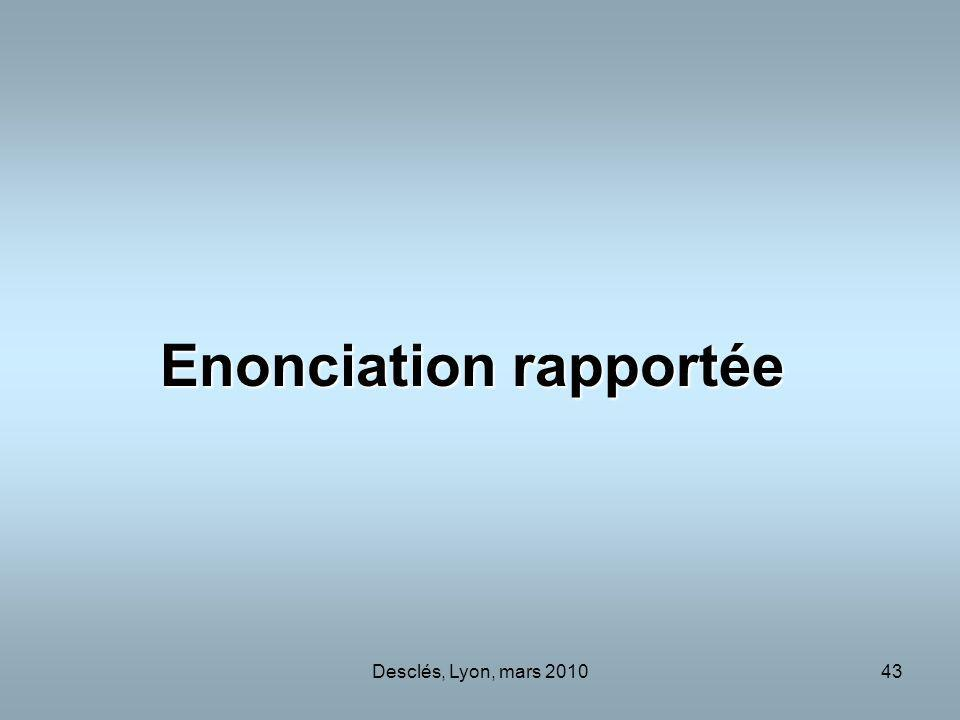 Enonciation rapportée