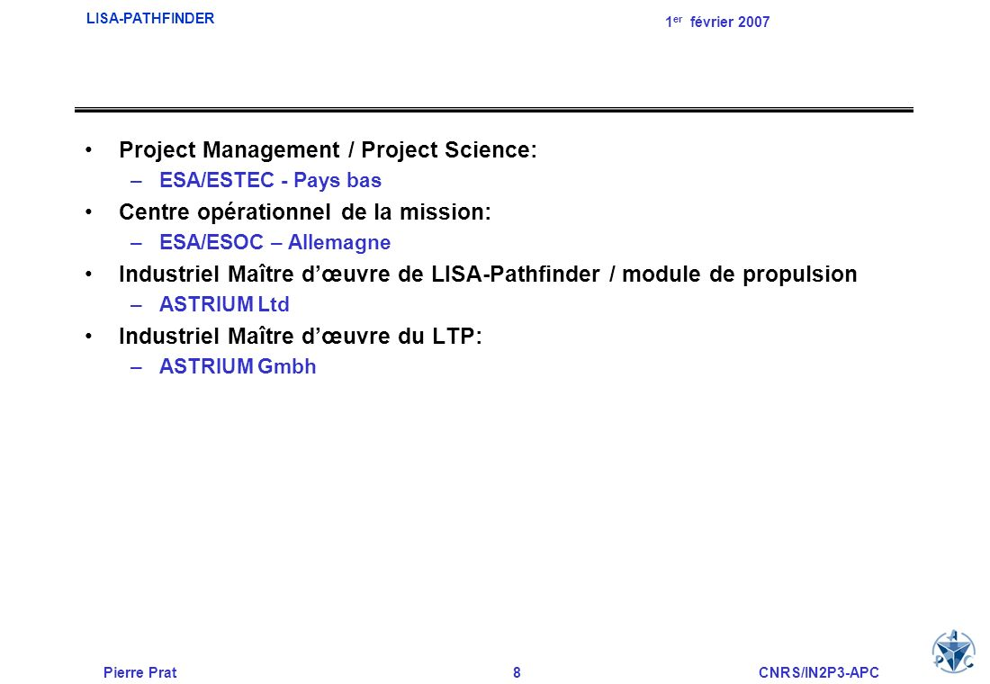 Project Management / Project Science:
