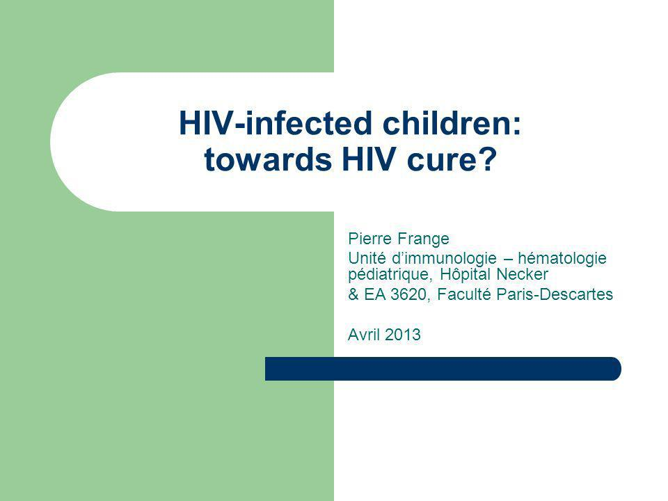 HIV-infected children: towards HIV cure