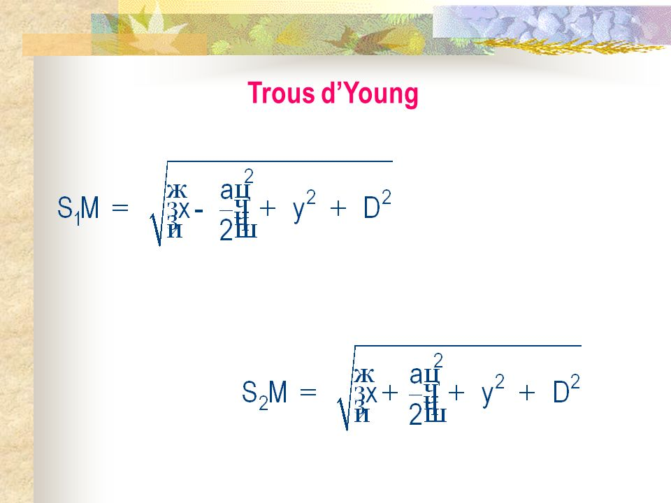 Trous d'Young
