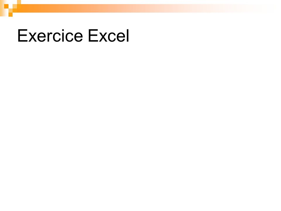 Exercice Excel