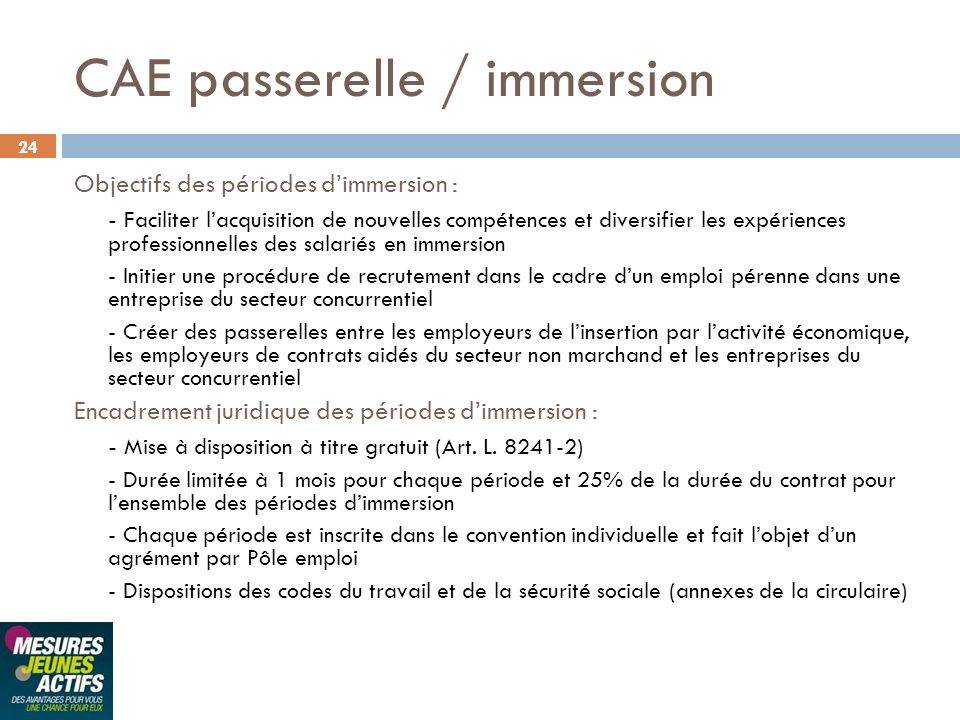 CAE passerelle / immersion