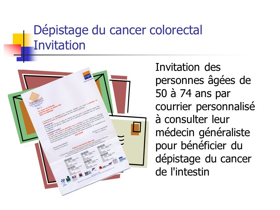 Dépistage du cancer colorectal Invitation