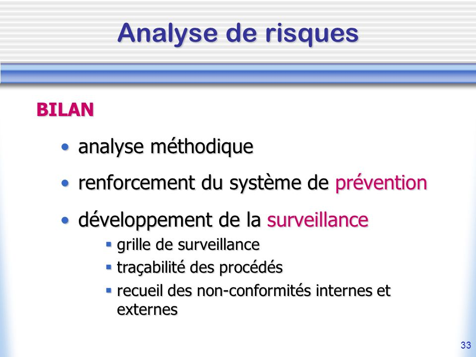 Analyse de risques analyse méthodique