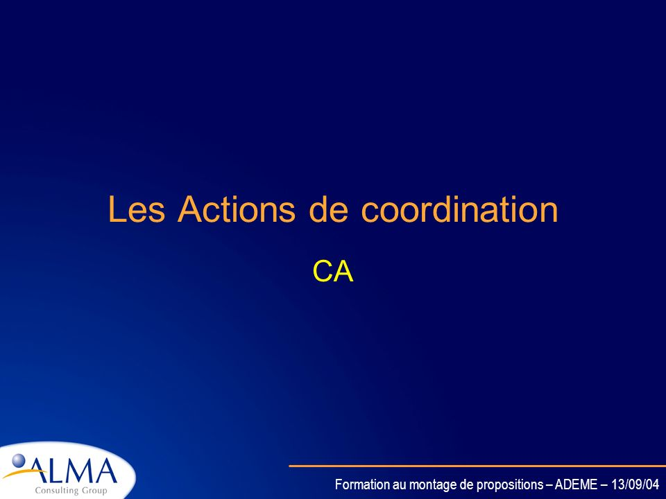 Les Actions de coordination