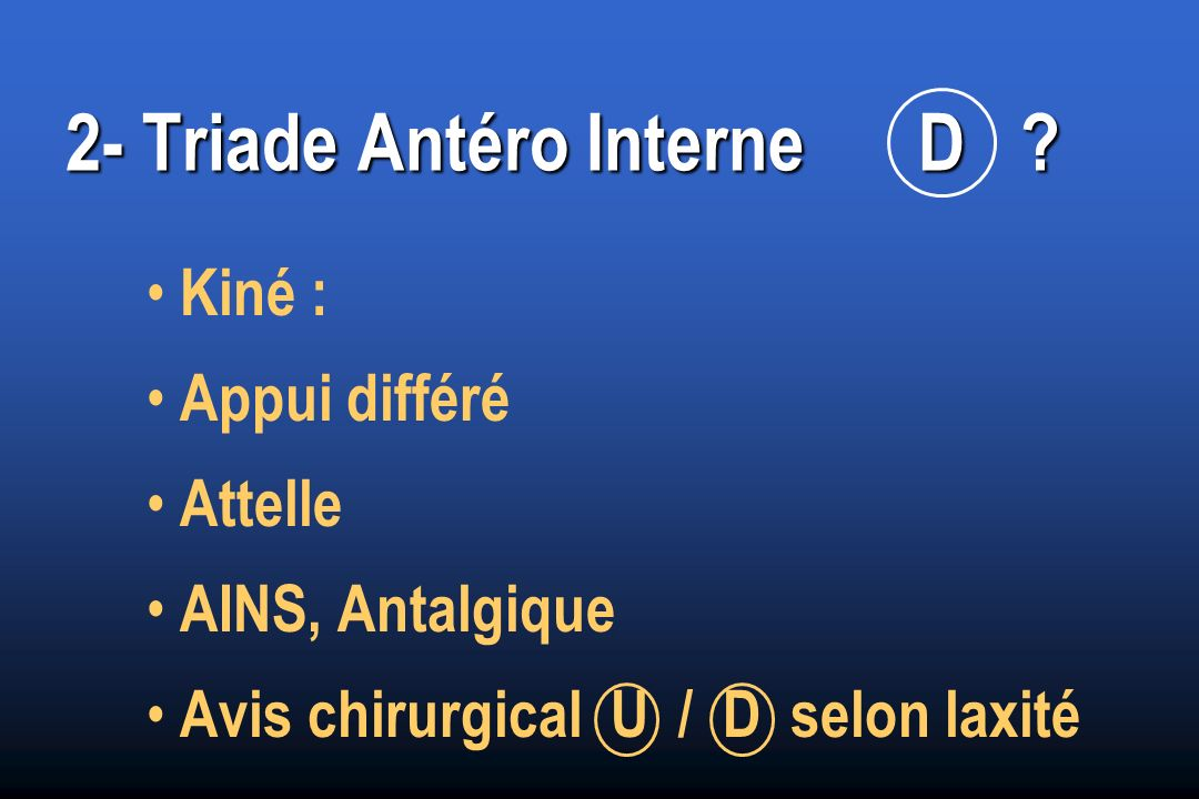 2- Triade Antéro Interne D