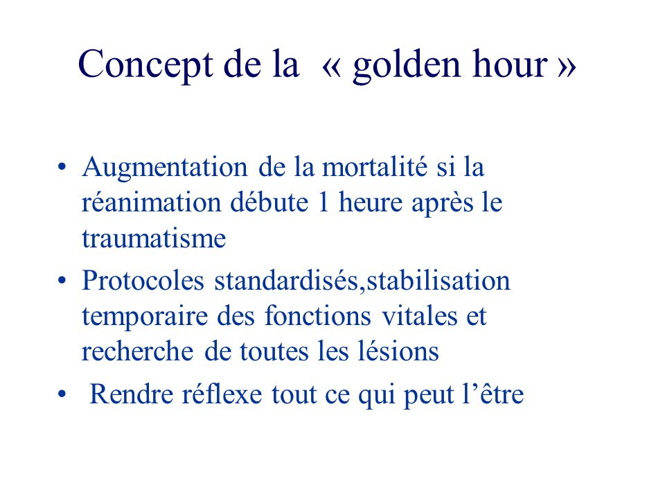 Concept de la « golden hour »