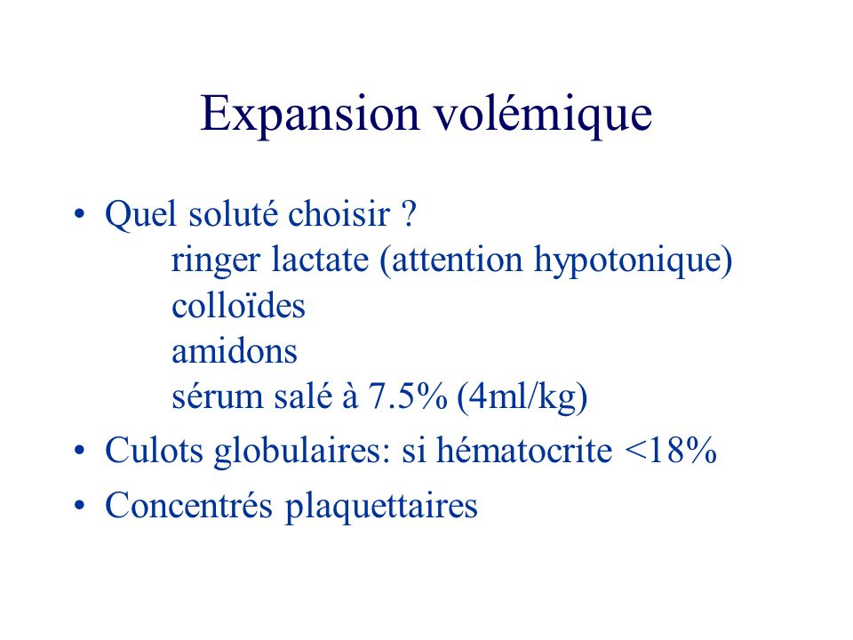 Expansion volémique