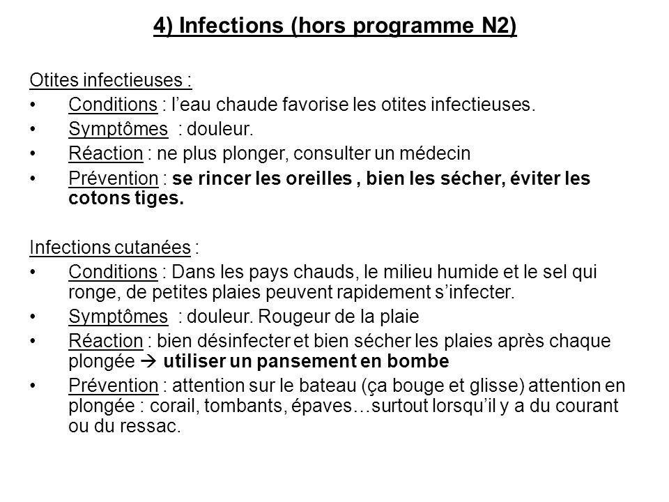 4) Infections (hors programme N2)