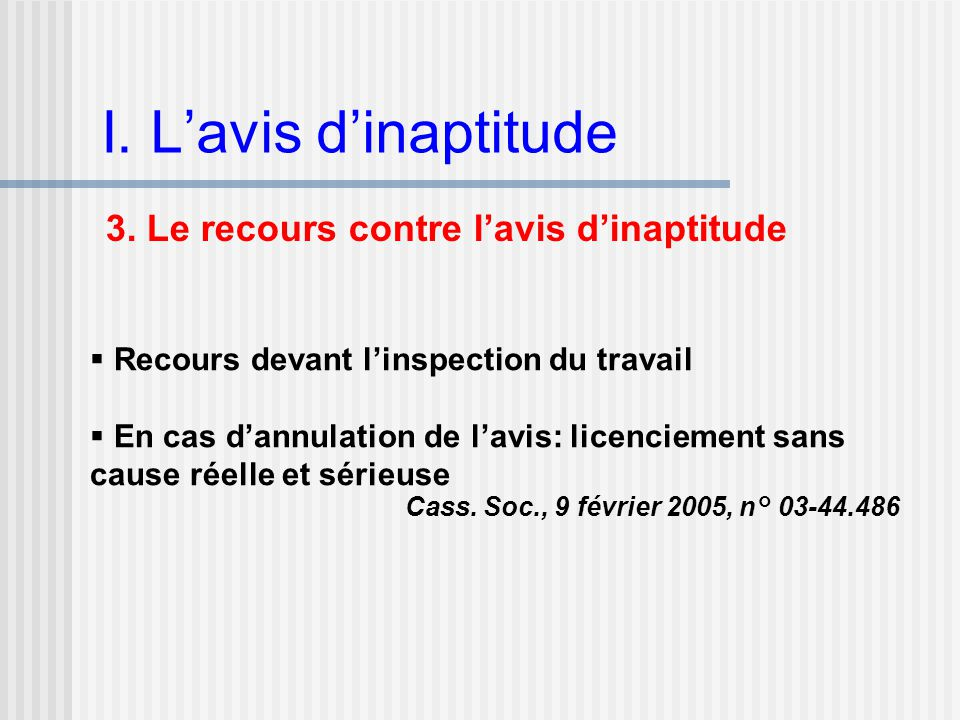 L Inaptitude Du Salarie Ppt Video Online Telecharger