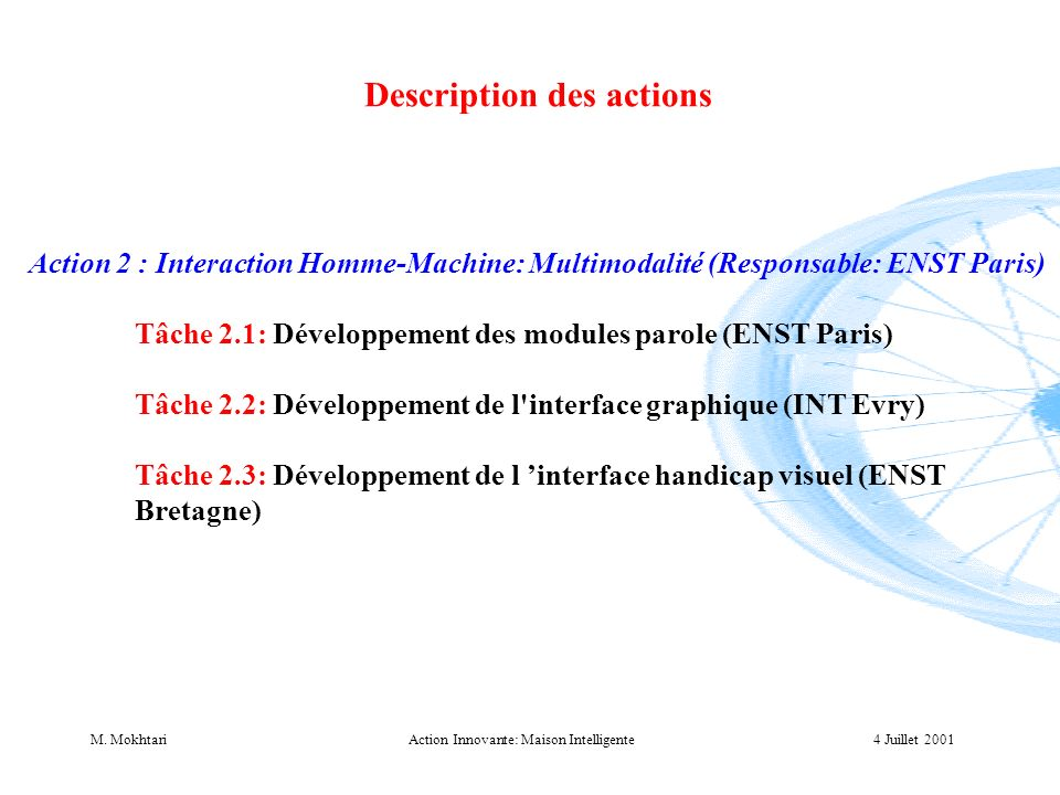 Action Innovante: Maison Intelligente