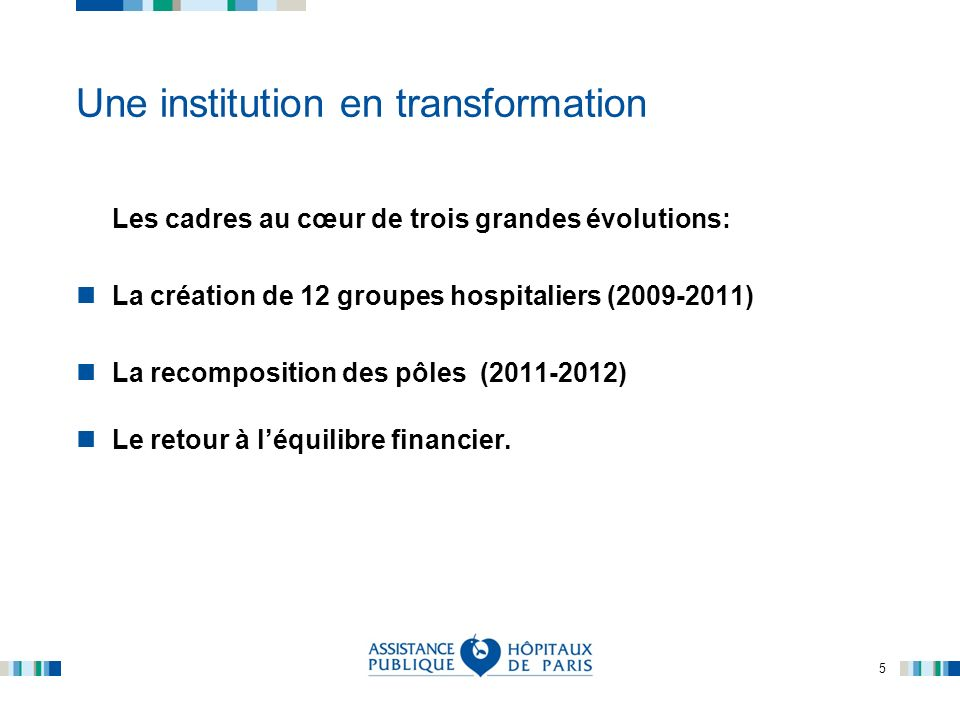 Une institution en transformation