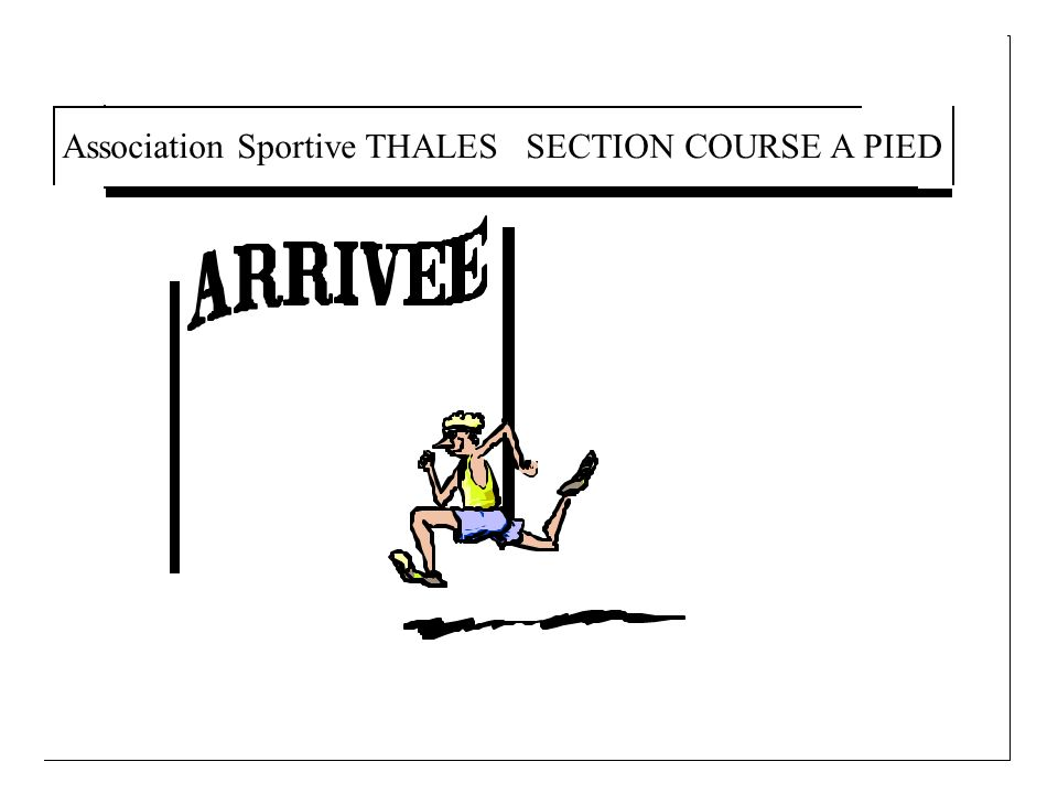 Association Sportive THALES SECTION COURSE A PIED