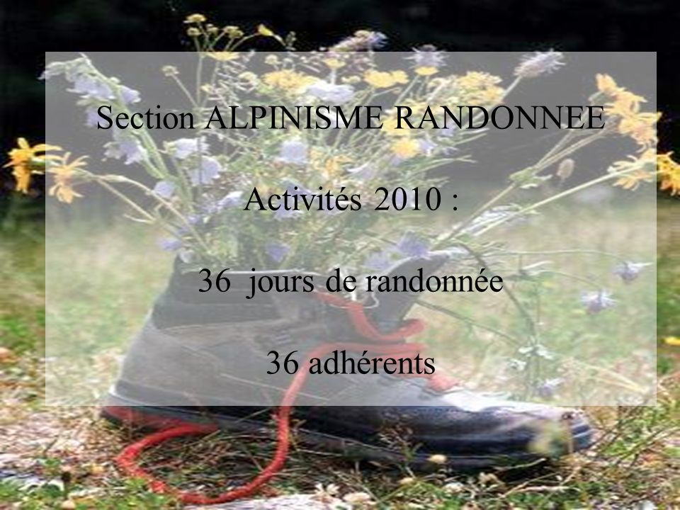 Section ALPINISME RANDONNEE