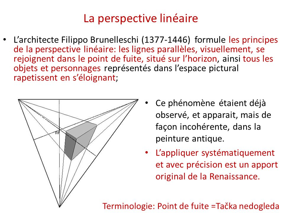 La peinture de la première renaissance et la perspective - ppt ...