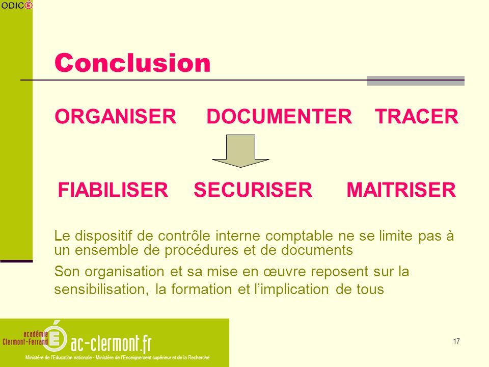 ORGANISER DOCUMENTER TRACER FIABILISER SECURISER MAITRISER