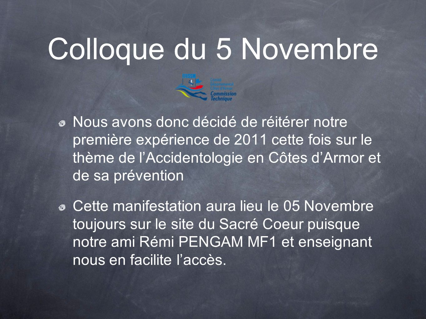 Colloque du 5 Novembre