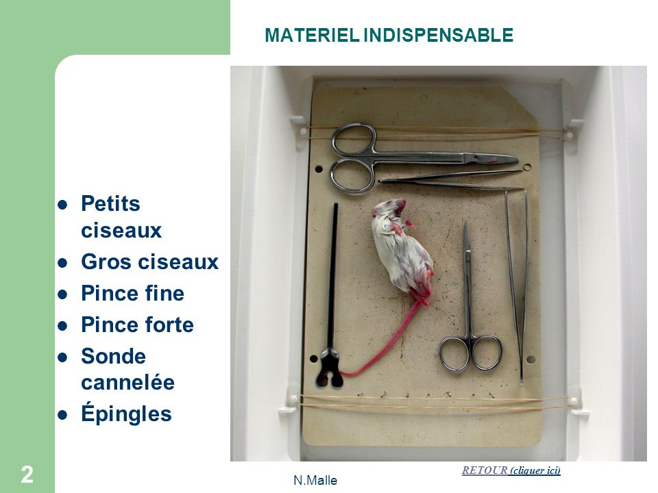 MATERIEL INDISPENSABLE