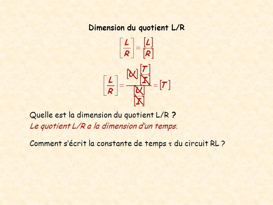 Dimension du quotient L/R