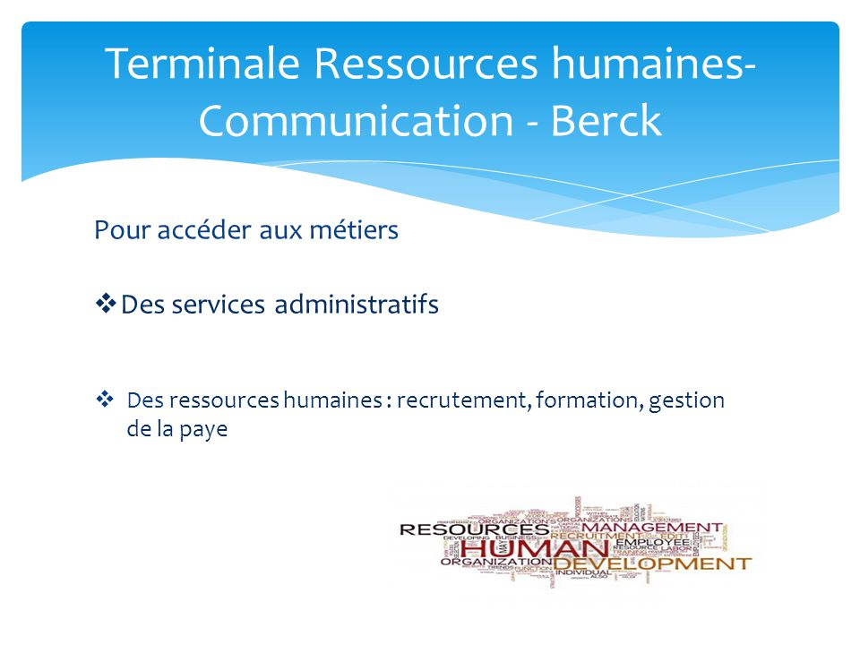 Terminale Ressources humaines- Communication - Berck