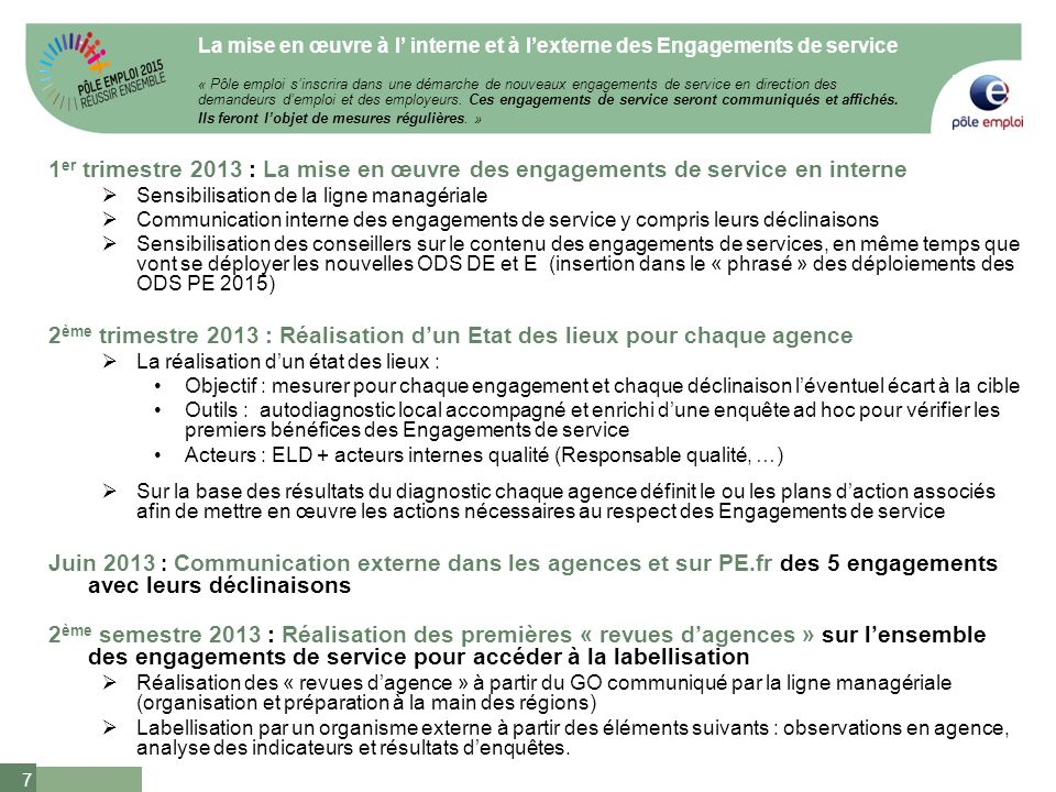 Les Engagements De Service De Pole Emploi Ppt Video Online Telecharger