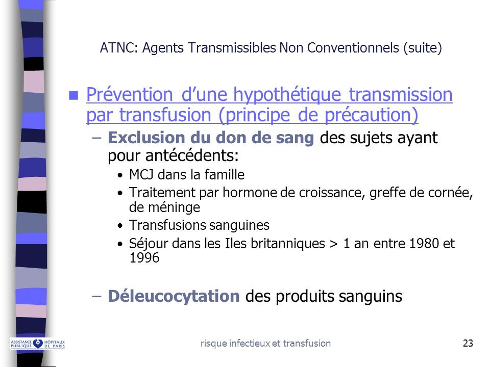 ATNC: Agents Transmissibles Non Conventionnels (suite)