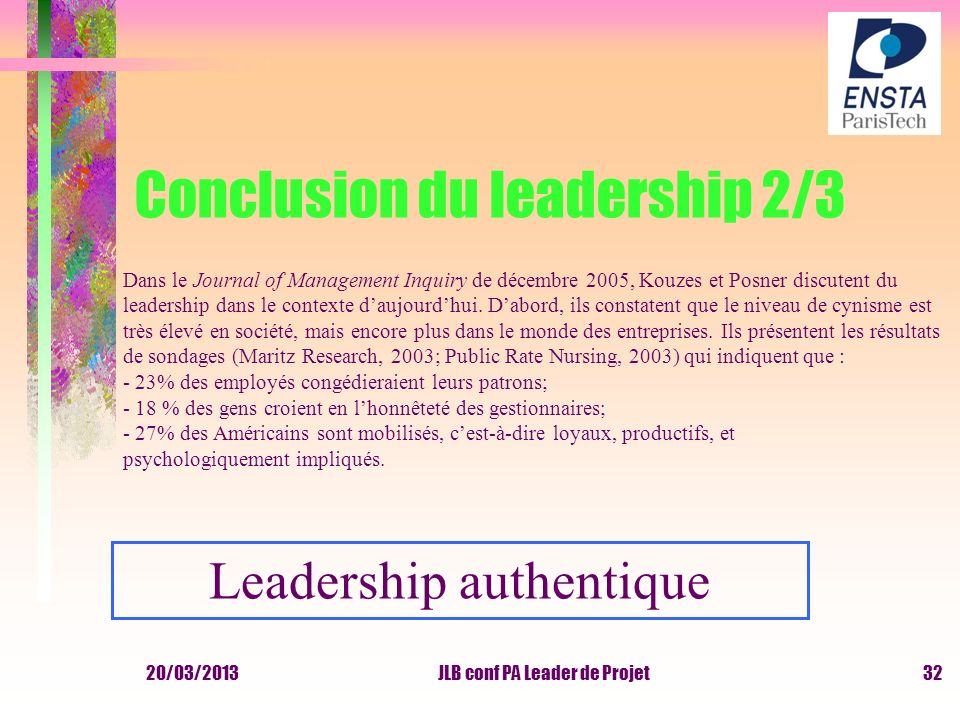 Conclusion du leadership 2/3