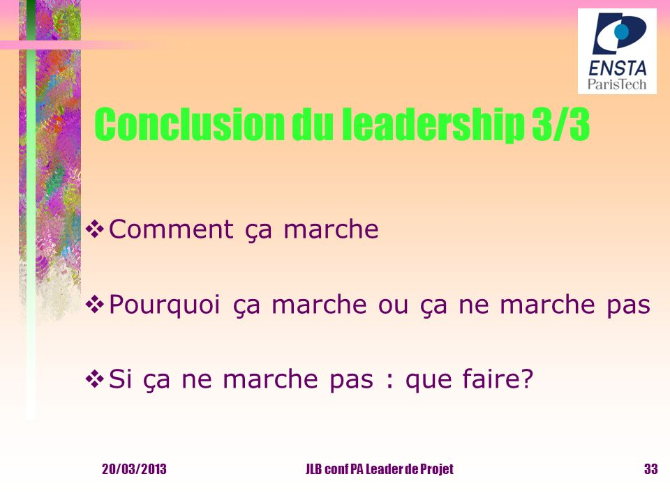 Conclusion du leadership 3/3